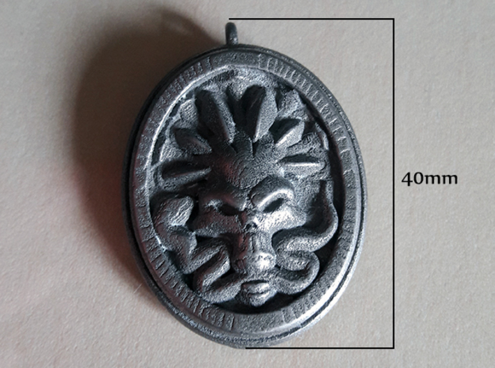 Skull and Snake Pendant 01 - 40mm 3d printed