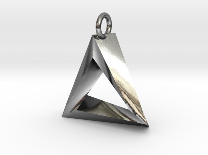 Penrose Triangle Pendant 3d printed