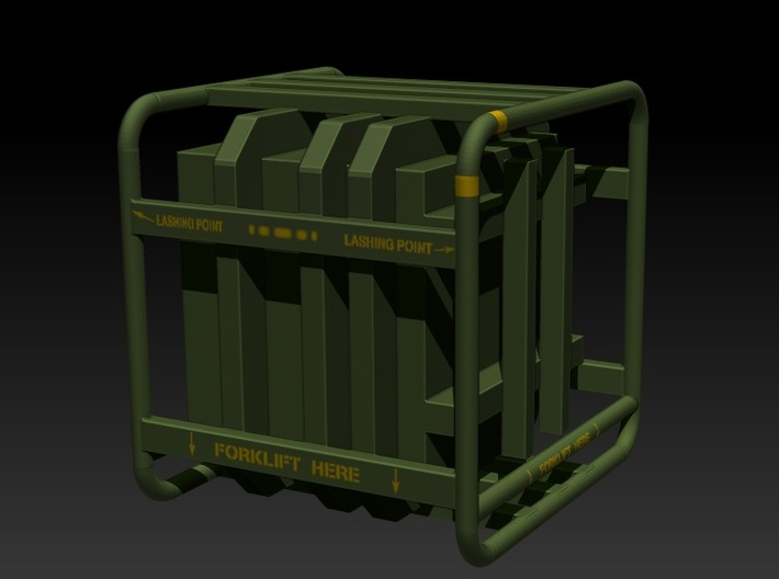 Sulaco Box with Rail 1:6 3d printed