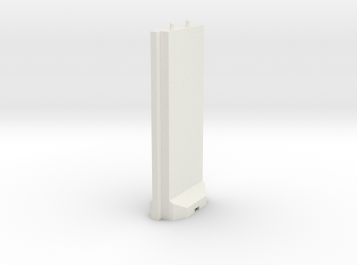 1/72 Concrete T-Wall Section 3d printed