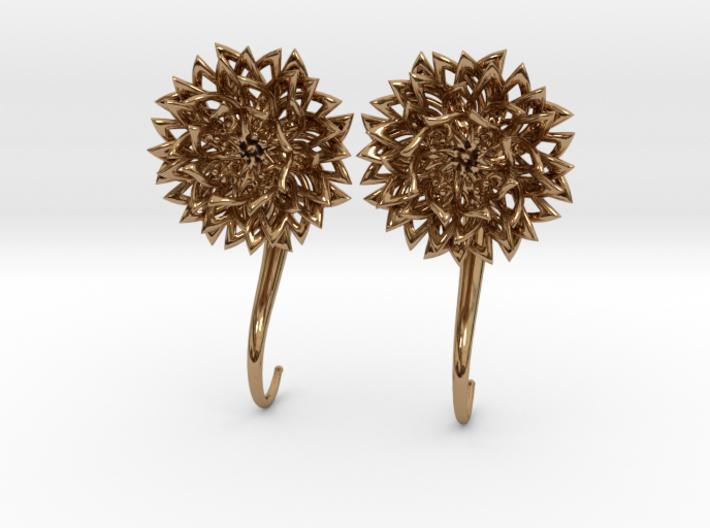 Plugs / gauges/ The Chrysanthemums 6 g (4 mm) 3d printed
