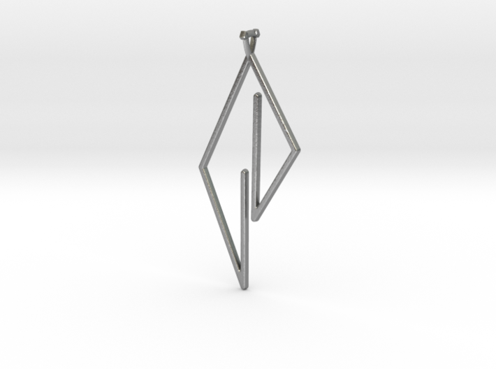 Triangle Pendant with triangle bail 3d printed