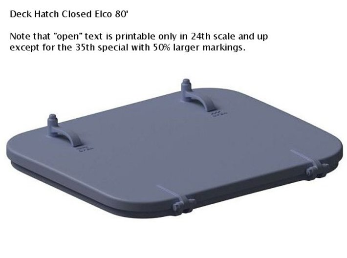 Deck Hatches Closed 1/72nd Elco 80' Qty 3 3d printed