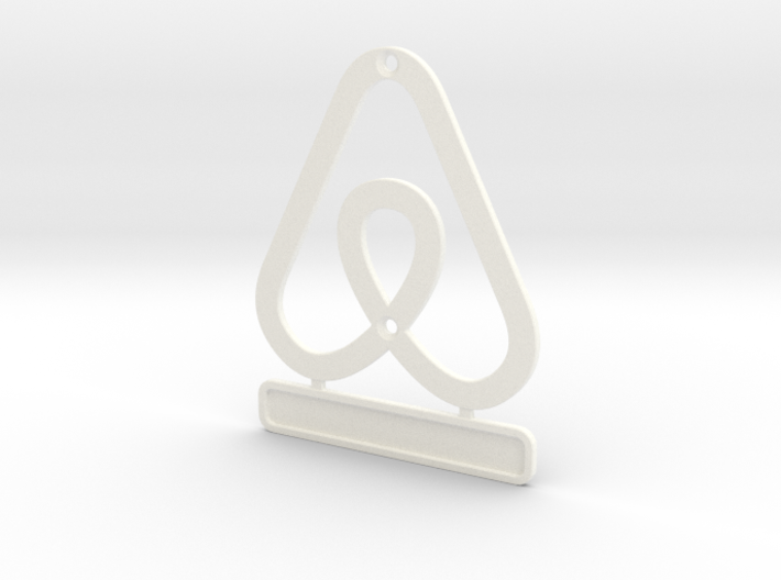 Airbnb HouseSymbol + Message 3d printed