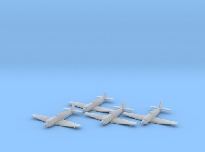 Heinkel He 100D 1:200 x4 FUD 3d printed