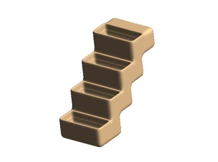 Flower-staircase - Sandstone 3d printed