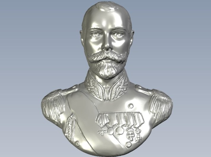 1/9 scale Tsar Nicholas II Emperor of Russia bust 3d printed