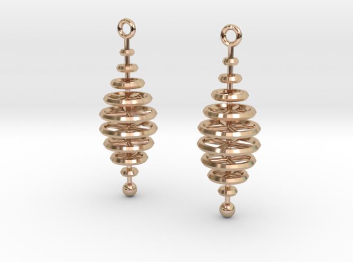 Ring-Stack Earrings 3d printed