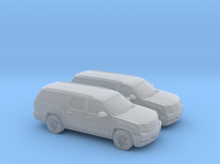 1/200 2X 2013 Cadillac Ecalade 3d printed