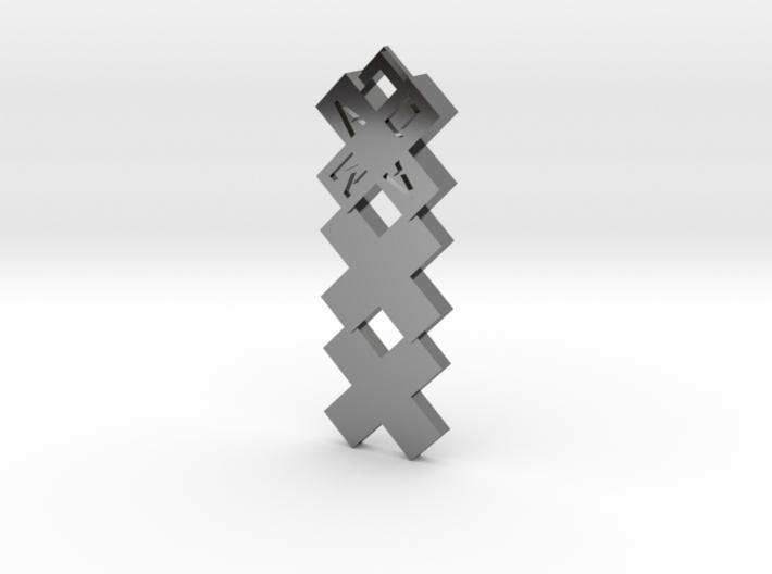 Amsterdammertje kruizen kettinghanger 3d printed