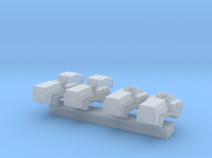 1:400 Scale MD-1 Aircraft Carrier Tow Tractors (4x 3d printed