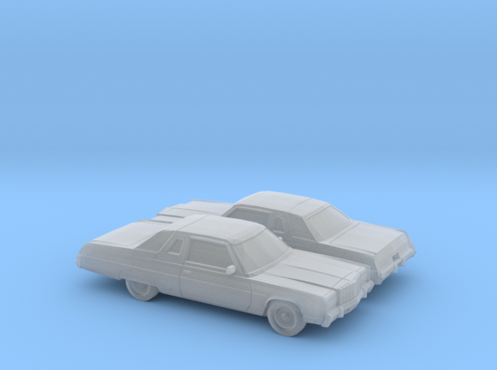 1/160 2X 1974-78 Chrysler New Yorker Coupe 3d printed
