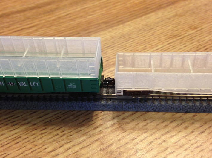 Two 50ft Gondola With Insert  Z Scale 3d printed 2 Gondola's with insert Z scale