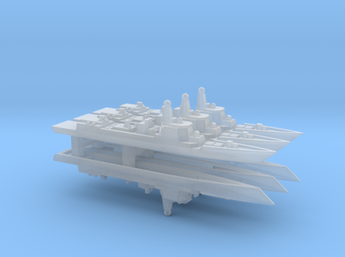 Type 052D Destroyer x 6, 1/6000 3d printed