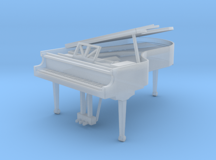 Miniature 1:48 Grand Piano 3d printed