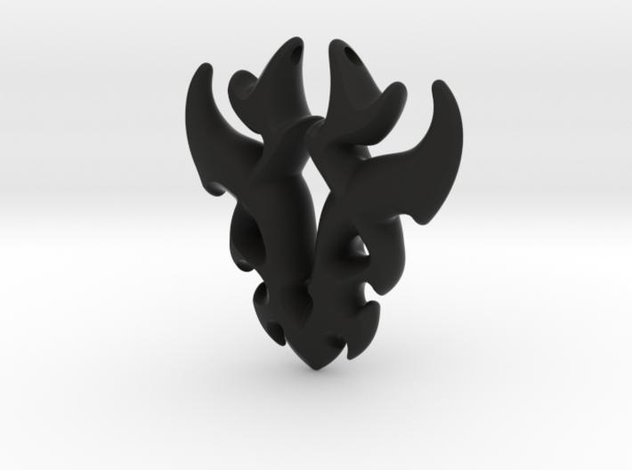Antler Pendant 3d printed