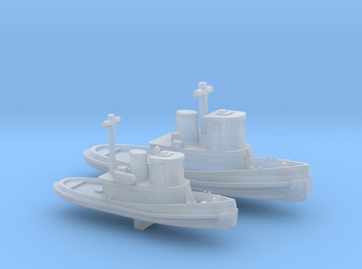 1/700 Scale Vietnam Era US Army LT & ST Tugs 3d printed