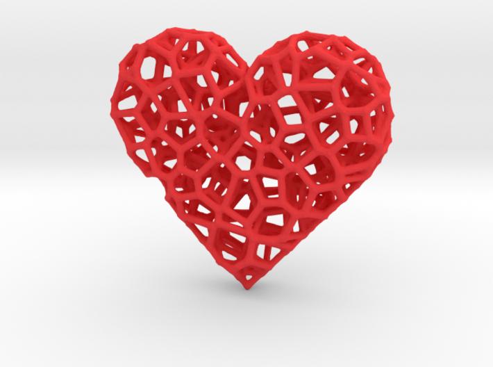 Voronoi Heart pendant (version 2) 3d printed