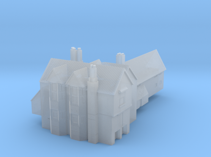 1:700 Scale Moat Hall, Parham, Suffolk 3d printed