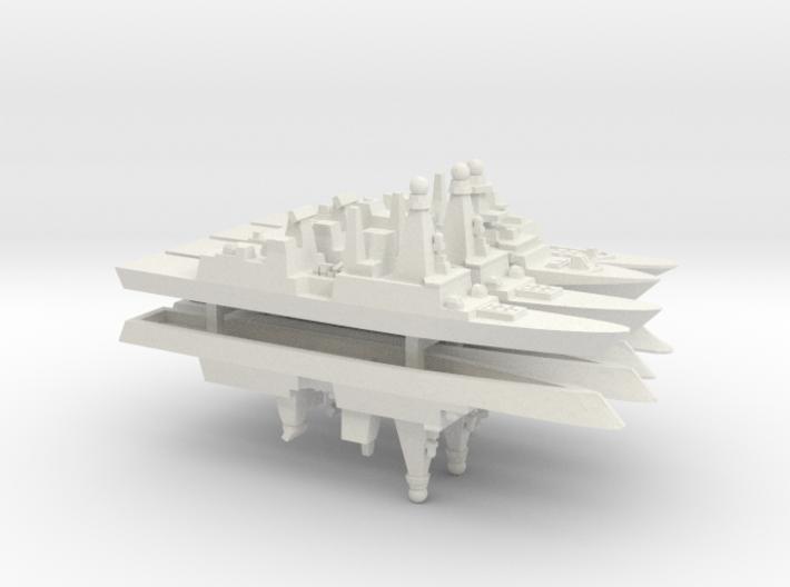 FREMM & Horizon Frigates Pack, 1/1800 3d printed