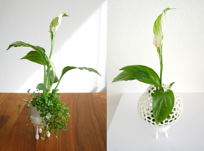 Mini Plant-Space-Rocket with Pot 3d printed