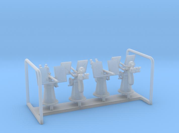 Oerlikon Depressed Mk4 Base USN x 4 1/128 3d printed