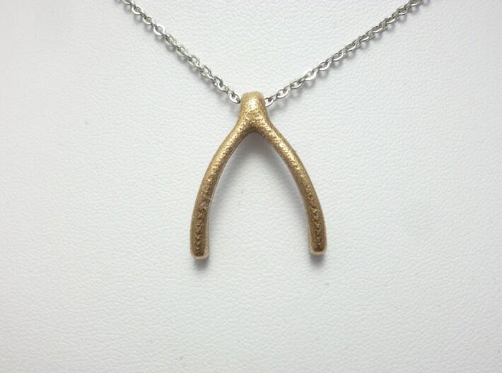 Ring Holder Pendant: Wishbone 3d printed Wishbone Pendant Ringholder