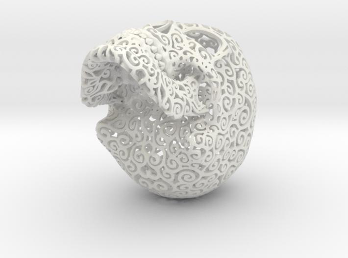 Skull Filagree - Hearts - 8cm 3d printed