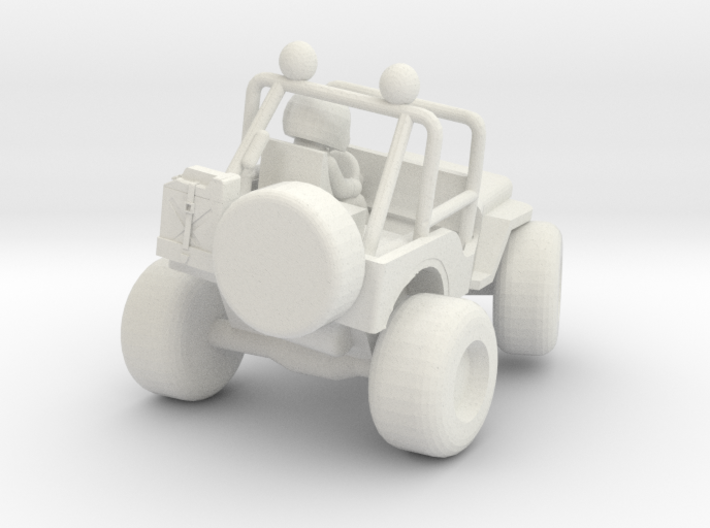 Wild Willy M38 model with turned in wheels 3d printed