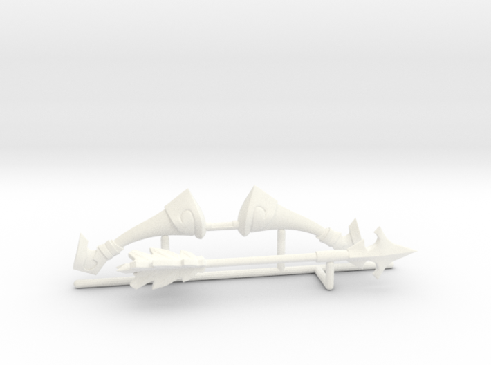 Bow and arrow Toon version 3d printed