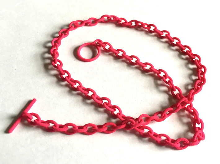 Basic Oval Chain - 34in 3d printed