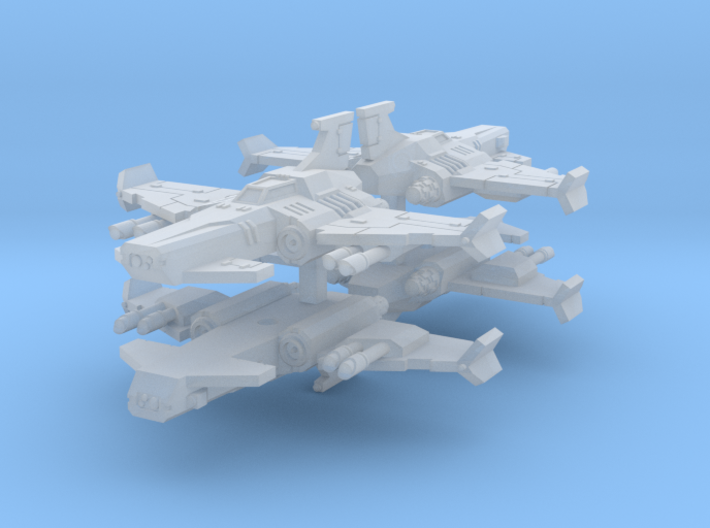 6mm Thunderclap Fighter (4pcs) 3d printed