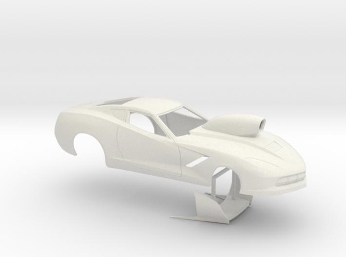 1/25 2014 Pro Mod Corvette Small Wheelwells 3d printed