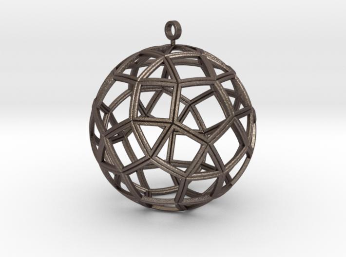 small ball rhombicosidodecahedron 3d printed