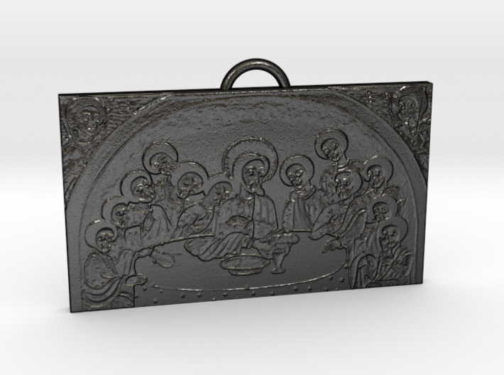 Last Supper Pendant 3d printed