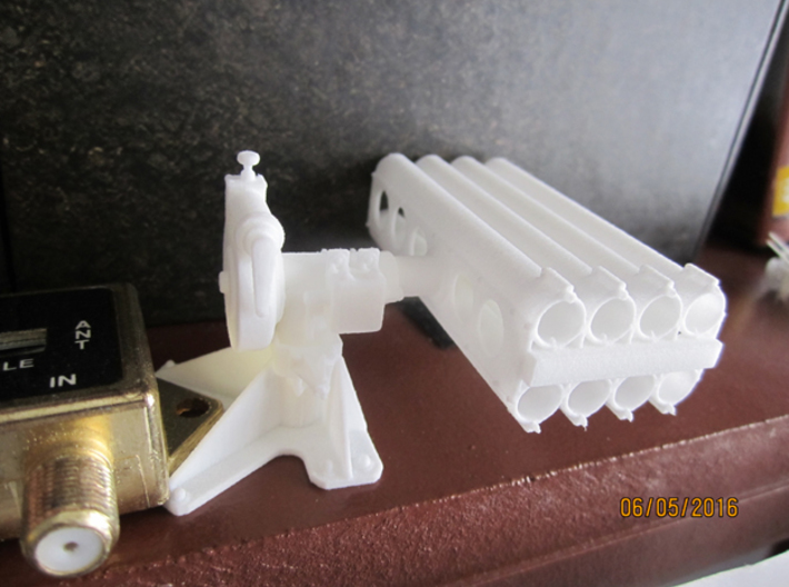 1/20 5 inch Rocket Launcher right side stowed 3d printed