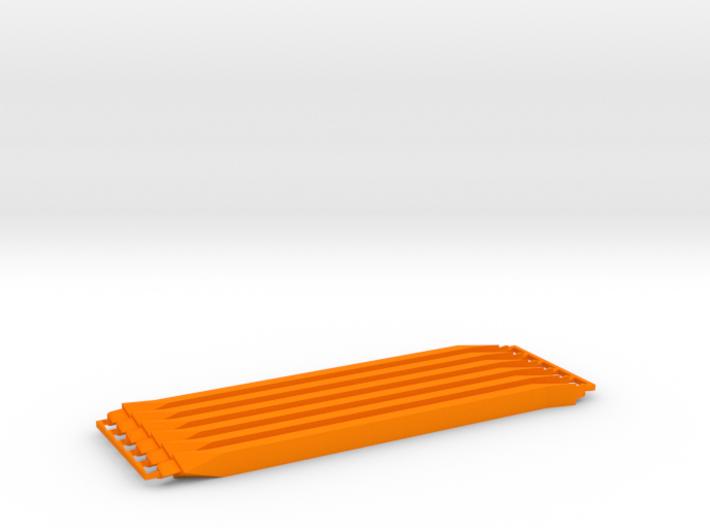 6 medium orange, sprued 3d printed