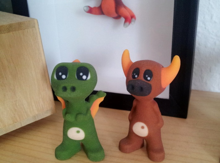 Dorus the Dragon 3d printed Dorus the Dragon and Manus the Minotaur