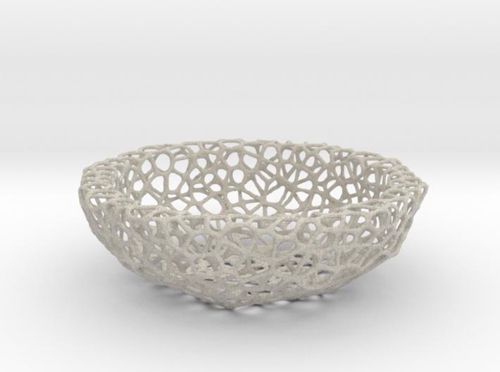 Bowl (19 cm) - Voronoi-Style #2 3d printed