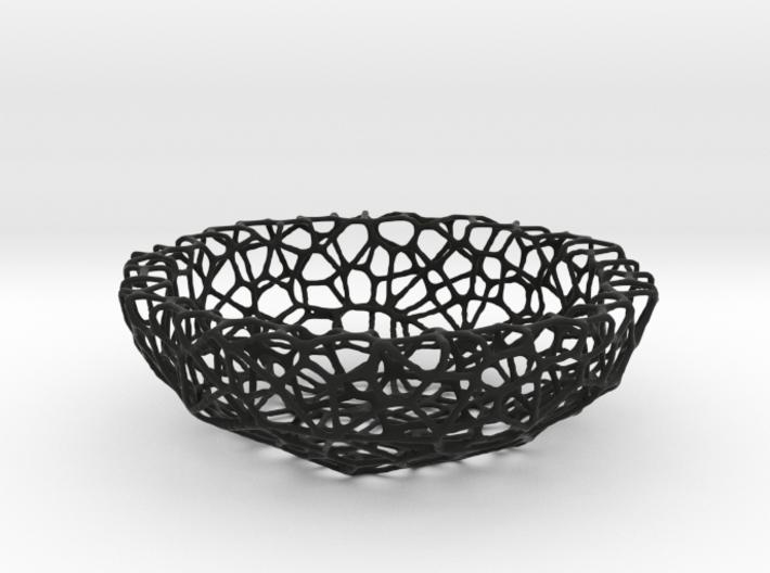 Fruit bowl (22 cm) - Voronoi-Style #1 3d printed