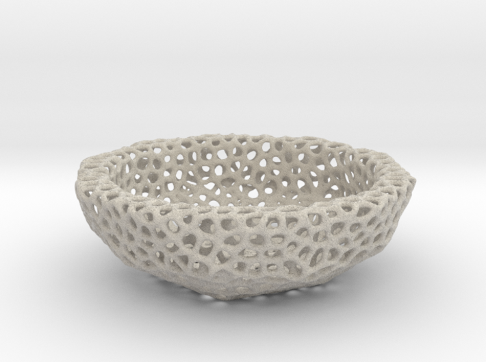 Bowl (19 cm) - Voronoi-Style #6 3d printed