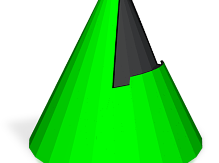 zz - Cone stand - 3.3in, Green 3d printed
