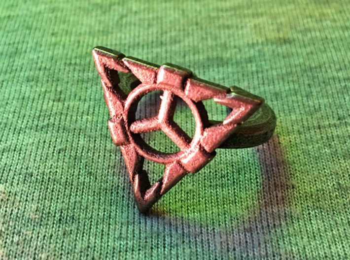 LIONESS RISING RING 7 3d printed