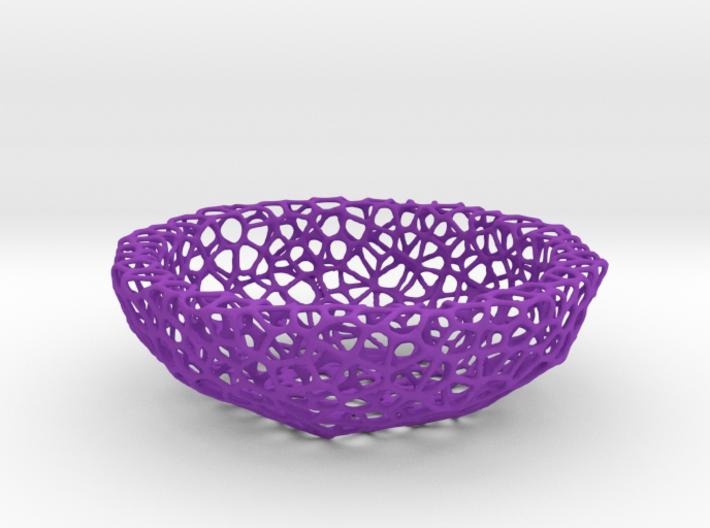 Mini Key shell / bowl (9 cm) - Voronoi-Style #5 3d printed