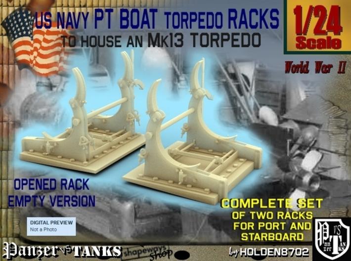 1-24 PT Torpedo Rack TypD Empty 3d printed
