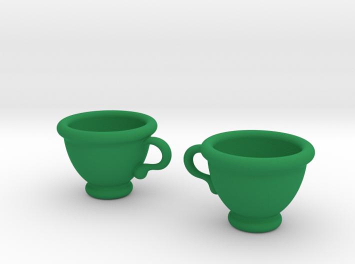 Coffee Cups Earrings 3d printed