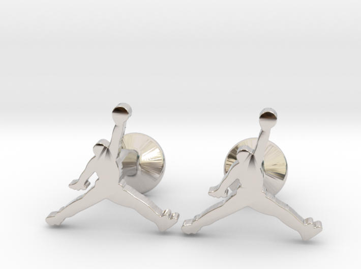 Jumpman Cufflinks 3d printed