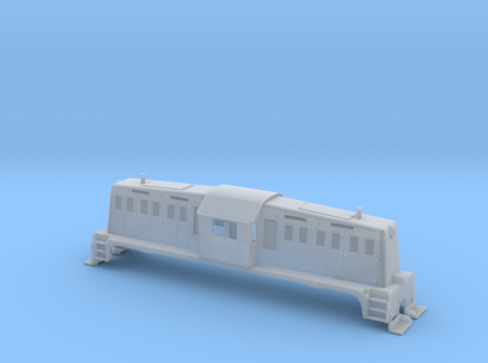 HO-Scale Whitcomb 65 Ton Loco Shell 3d printed