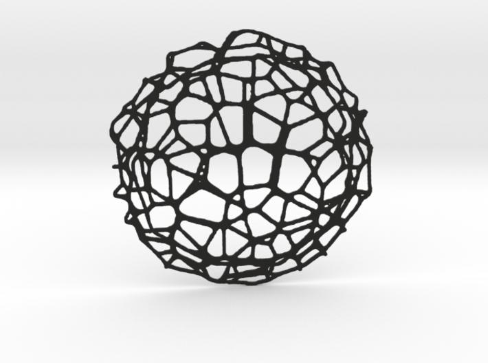 Drink coaster - Voronoi #9 (8 cm) 3d printed