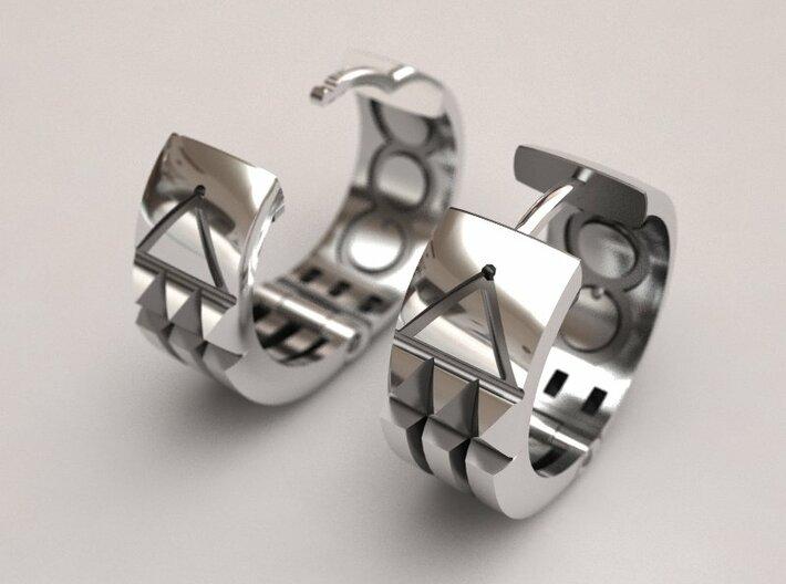 Atlantis Earrings 3d printed Atlantis earrings original design